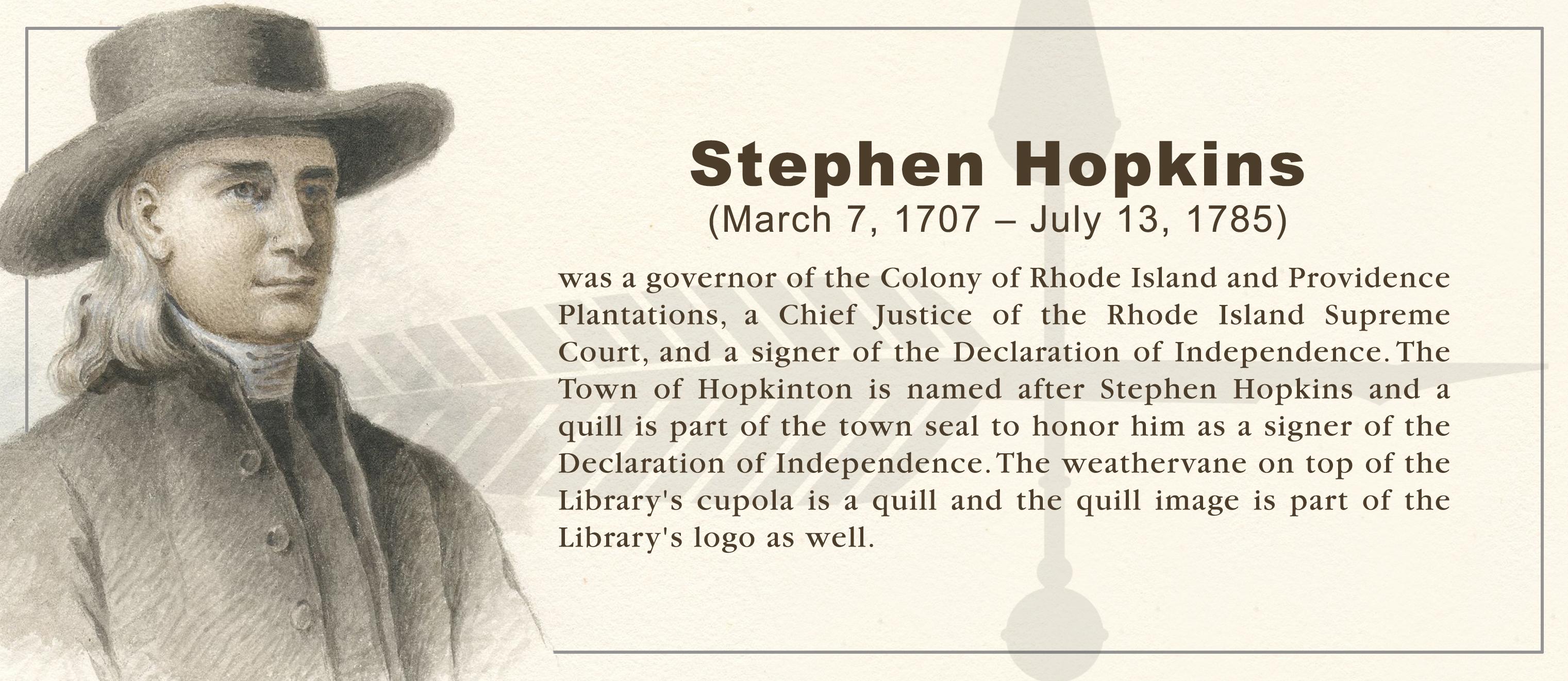 Stephen Hopkins Banner